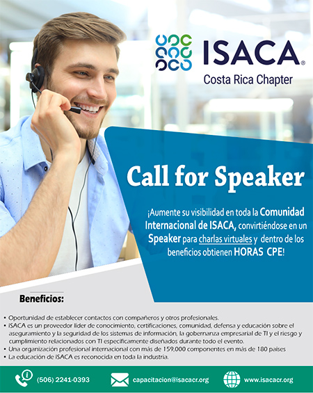 Call for Speaker Internacional- ISACA COSTA RICA